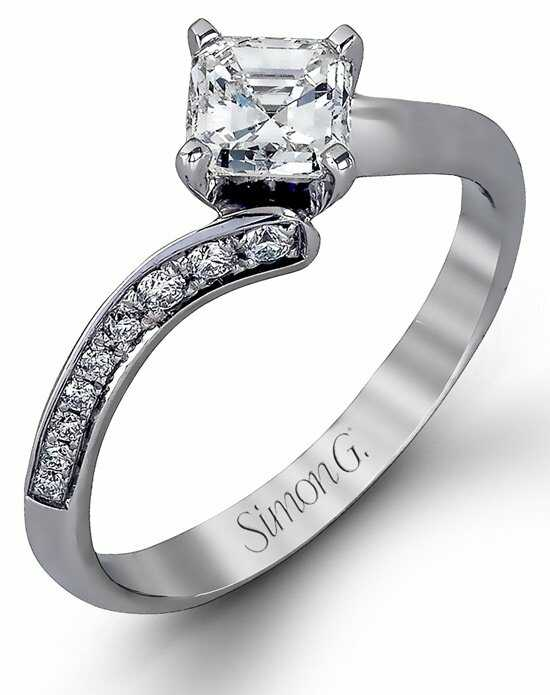 simon g jewelry - Princess Cut Diamond Wedding Rings