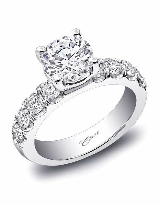 coast diamond classic cut engagement ring - Traditional Wedding Rings