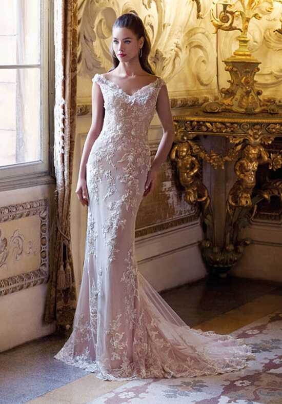 Platinum by Demetrios DP396 - Brigitte Mermaid Wedding Dress