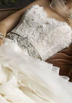 Lazaro 3100 Ball Gown Wedding Dress