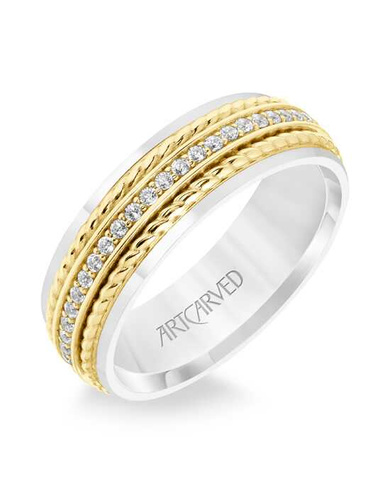 ArtCarved 22-V8730WY7 Gold Wedding Ring