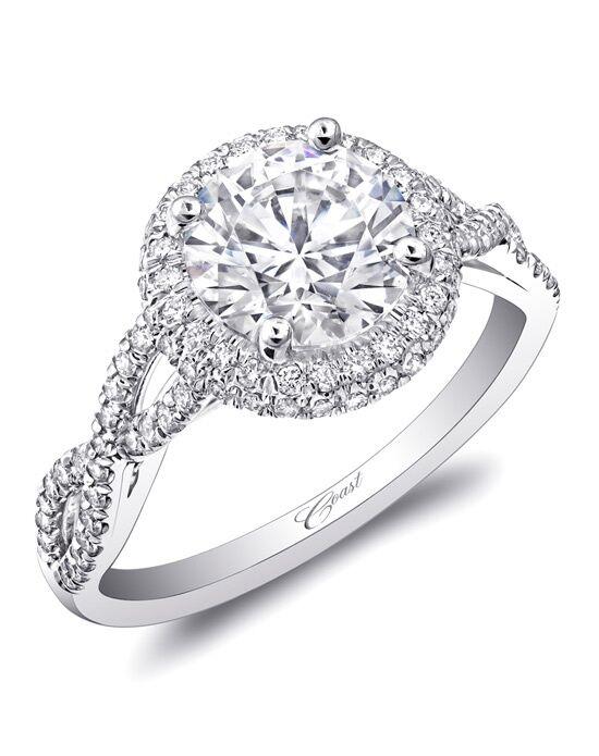 coast diamond round halo engagement ring lc5438 white gold wedding ring - Halo Wedding Ring