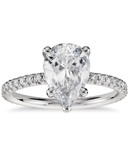 blue nile studio cushion cut petite french pave crown