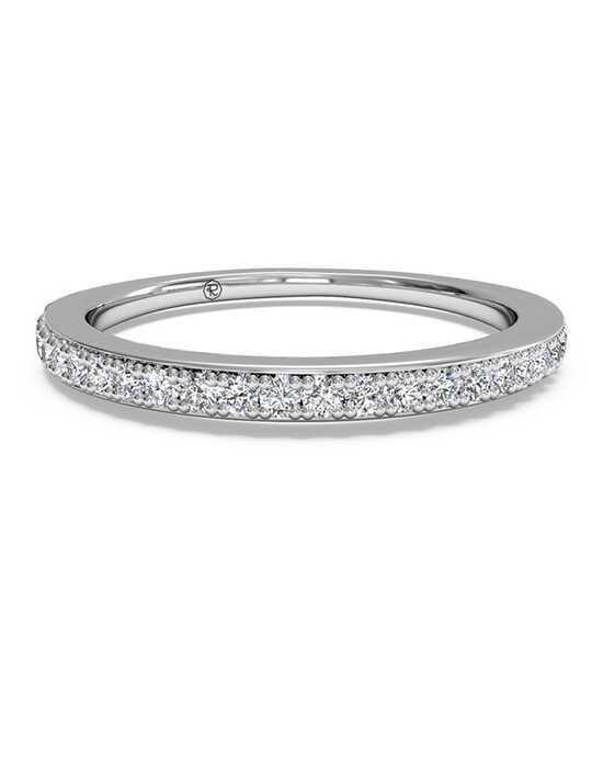 Ritani Women's Micropave Diamond Wedding Band - in 14kt White Gold (0.22 CTW) White Gold Wedding Ring