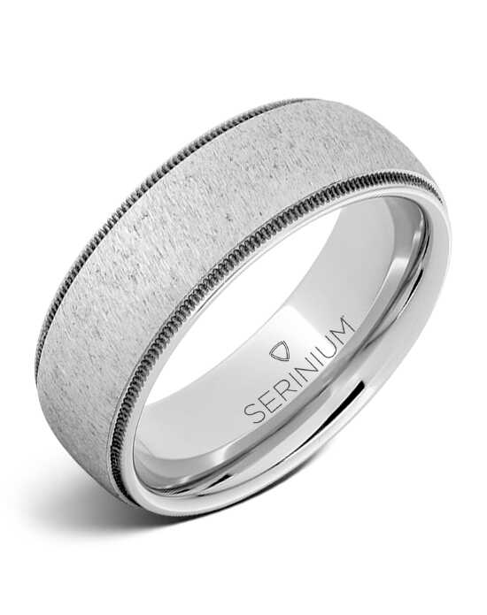 Serinium® Collection Corsair — Satin Dome Serinium® Ring-RMSA006063 Serinium® Wedding Ring