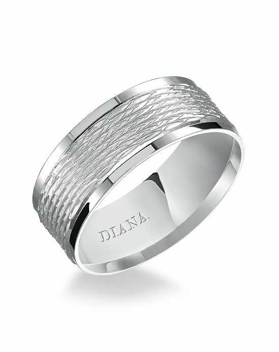 Diana 11-N7696W8-G Platinum, White Gold Wedding Ring