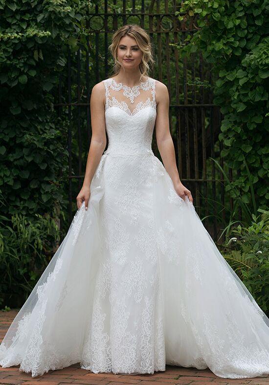 4f94dc60d111 Illusion Neckline Wedding Dresses   The Knot