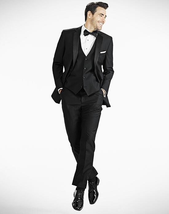 Generation Tux Notch Lapel Modern Fit Black Tux Wedding Tuxedos + Suit photo