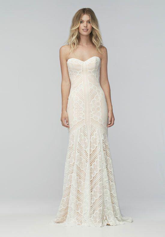 Form Fitting Strapless Wedding Dresses