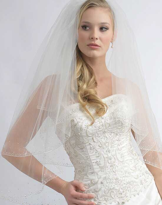 USABride 2 Layer, Crystal & Beaded Veil VB-405-1 Veil