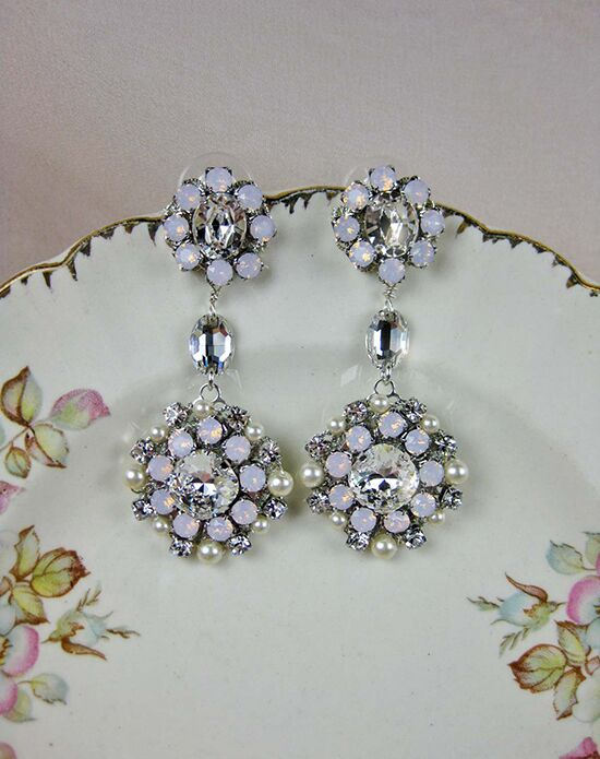 Everything Angelic Josephine Earrings - e331 Pink Wedding Earring photo