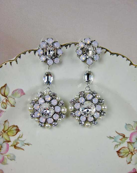 Everything Angelic Josephine Earrings - e331 Pink Wedding Earrings photo