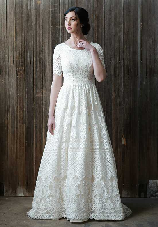 Modest by Mon Cheri TR21864 A-Line Wedding Dress