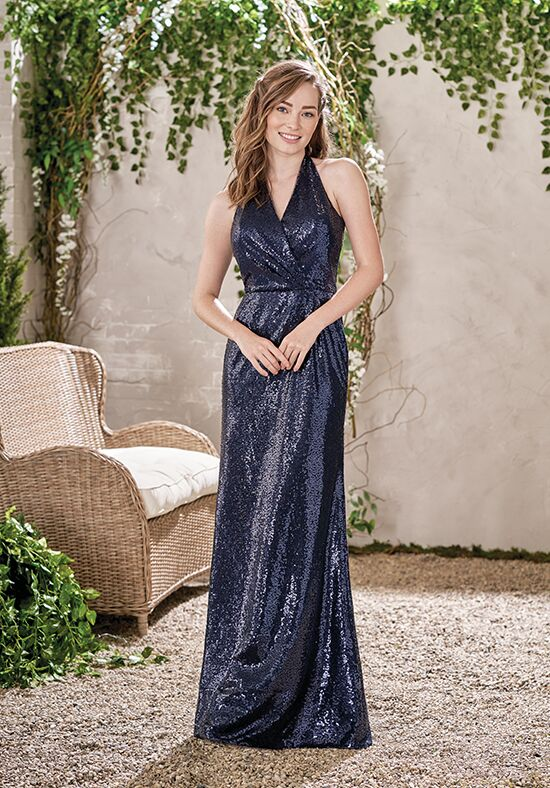 B2 by Jasmine B193016 Halter Bridesmaid Dress