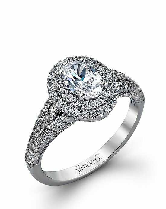 Simon G. Jewelry Oval Cut Engagement Ring