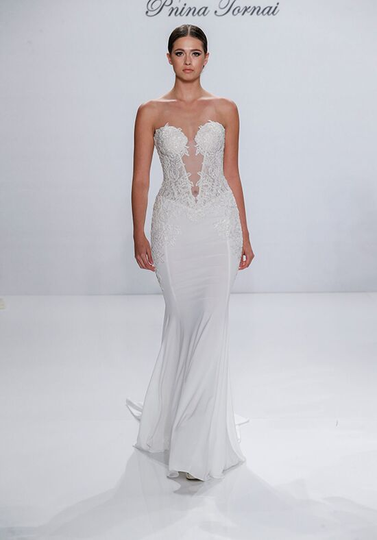 Pnina Tornai for Kleinfeld 4546 Sheath Wedding Dress