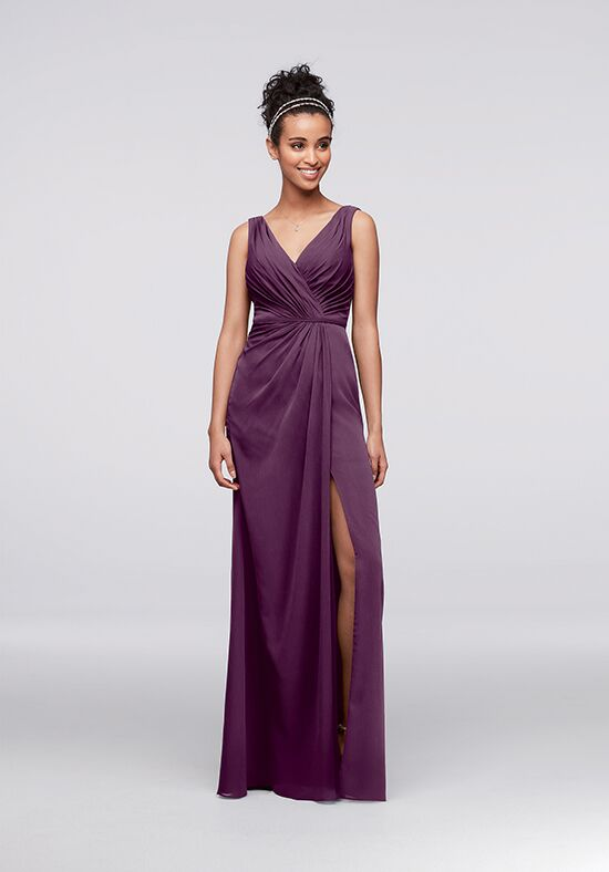 David's Bridal Collection David's Bridal Style F19585 V-Neck Bridesmaid Dress