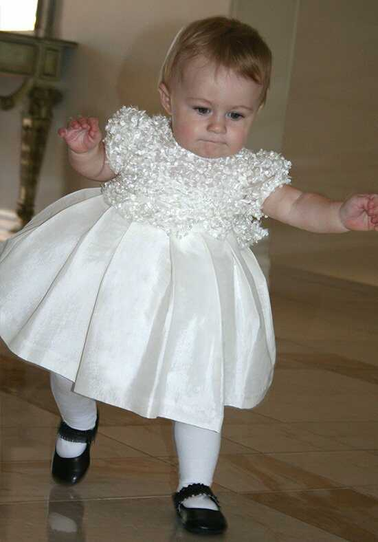 Isabel Garretón Short Sleeve Flutter Ivory Flower Girl Dress