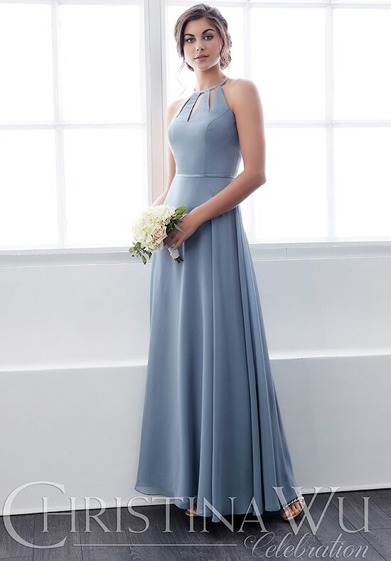 Christina Wu 22822 Halter Bridesmaid Dress