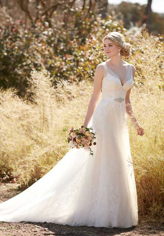 Essense of Australia D2120 A-Line Wedding Dress