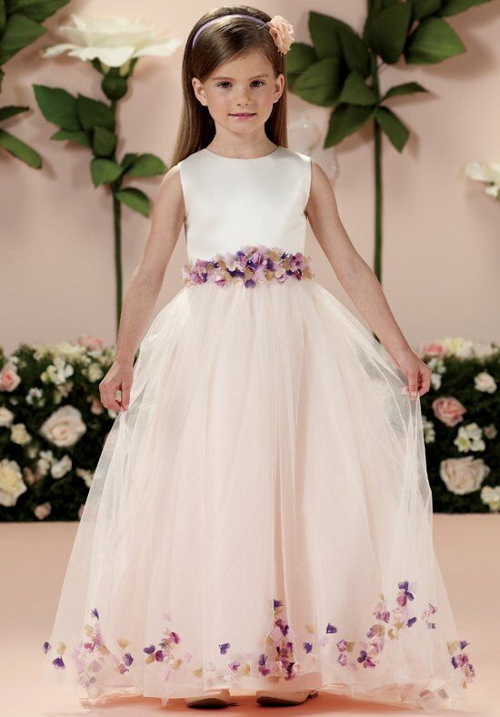Joan Calabrese by Mon Cheri 114332 Ivory Flower Girl Dress