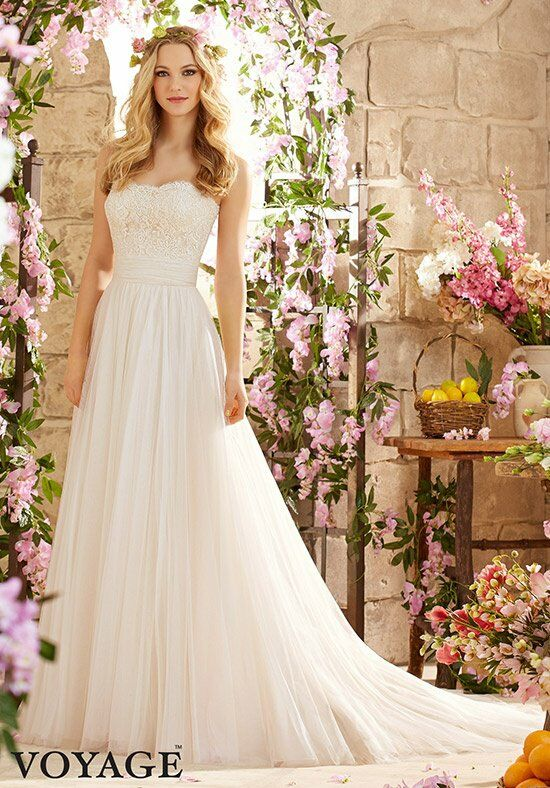 Morilee by Madeline Gardner/Voyage 6801 Sheath Wedding Dress