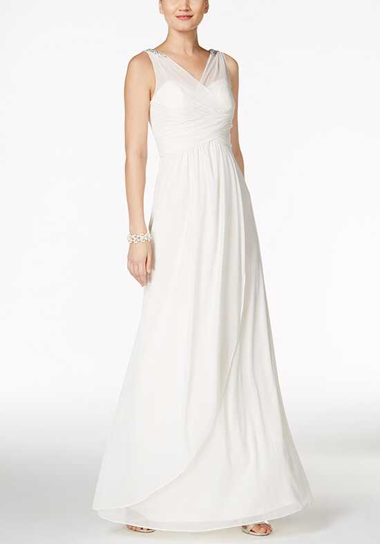Adrianna Papell Wedding Dresses Adrianna Papell Ruched Embellished Gown A-Line Wedding Dress