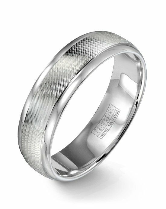 CrownRing WB-9560-M10 White Gold Wedding Ring