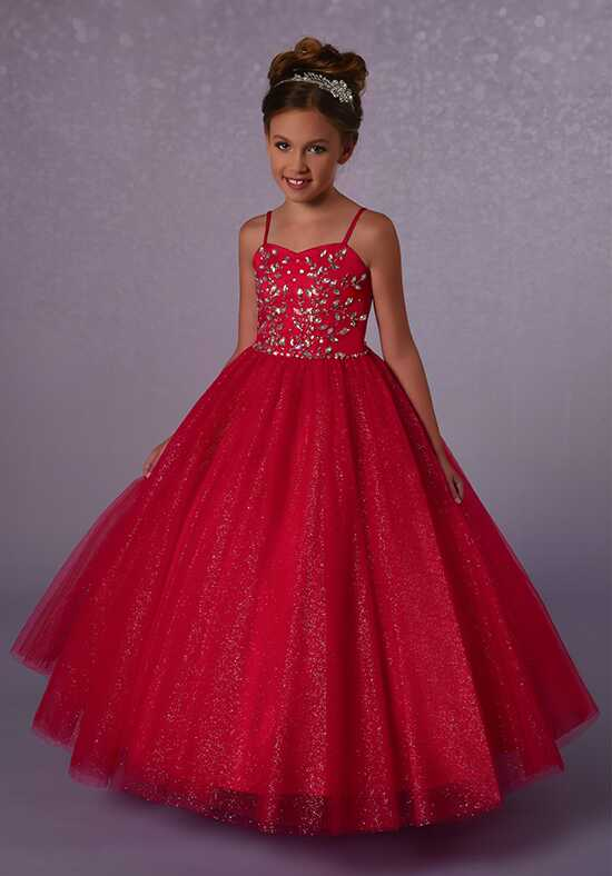 Cupids by Mary's FP181 Red Flower Girl Dress