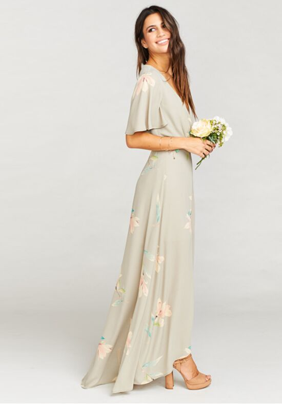Show Me Your Mumu Sophia Wrap Dress - Lily Showers V-Neck Bridesmaid Dress