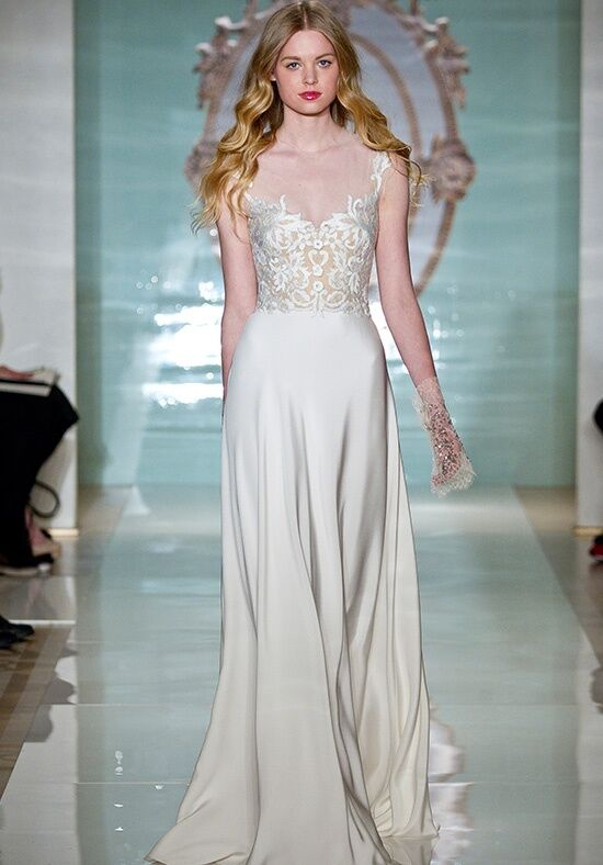 Reem Acra Pretty Girl A-Line Wedding Dress