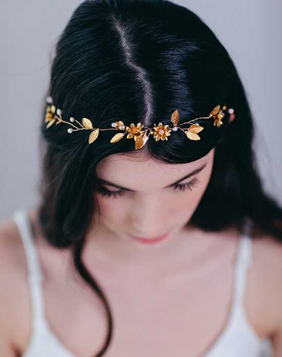 Davie & Chiyo | Hair Accessories & Veils Indra Hair Vine Gold Headband