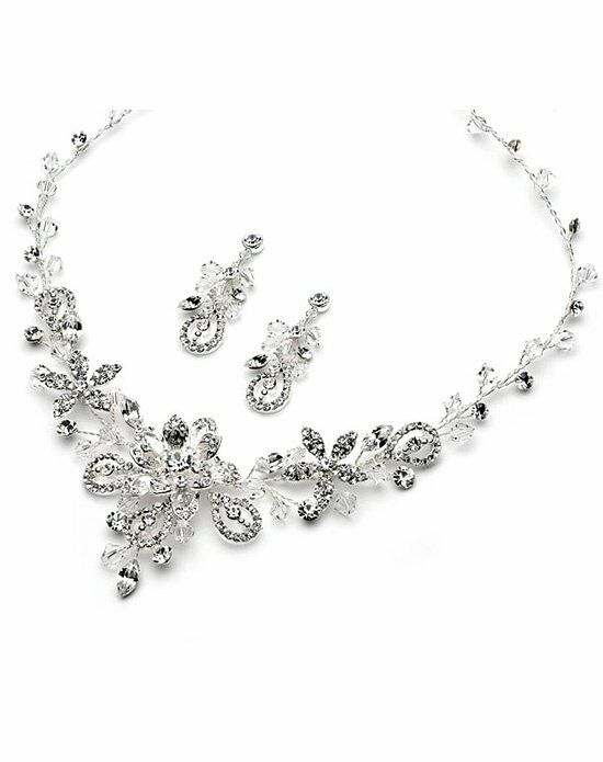 USABride Swarovski Fantasy Necklace & Earring JS-1385 Wedding Necklace photo