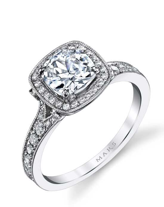 mars fine jewelry mars jewelry 25530 halo engagement ring - Wedding Ringscom