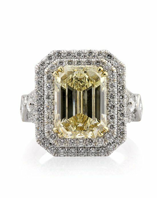 broumand 7 37ct fancy brownish yellow emerald cut