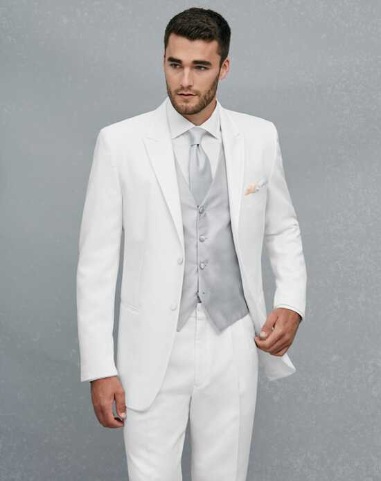 Jos. A. Bank Peak Lapel White Tuxedo Wedding Tuxedos + Suit photo