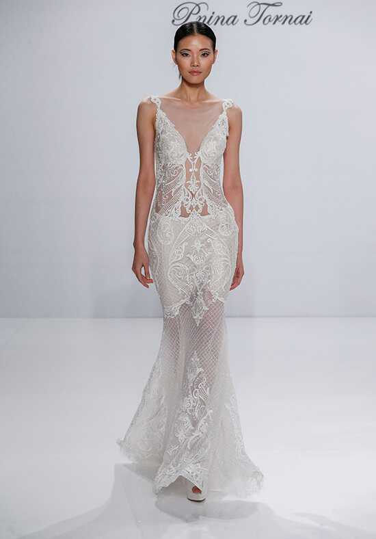 Pnina Tornai for Kleinfeld 4521 Sheath Wedding Dress
