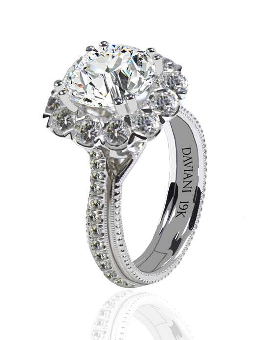 Daviani Love Links Collection DCR1164 Engagement Ring photo