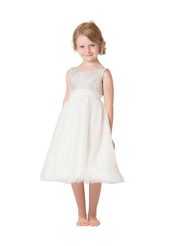Bari Jay Flower Girls F6017 Ivory Flower Girl Dress