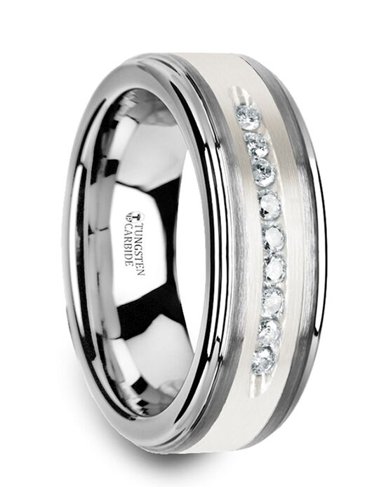 Mens Tungsten Wedding Bands W3924-TCSD Tungsten Wedding Ring