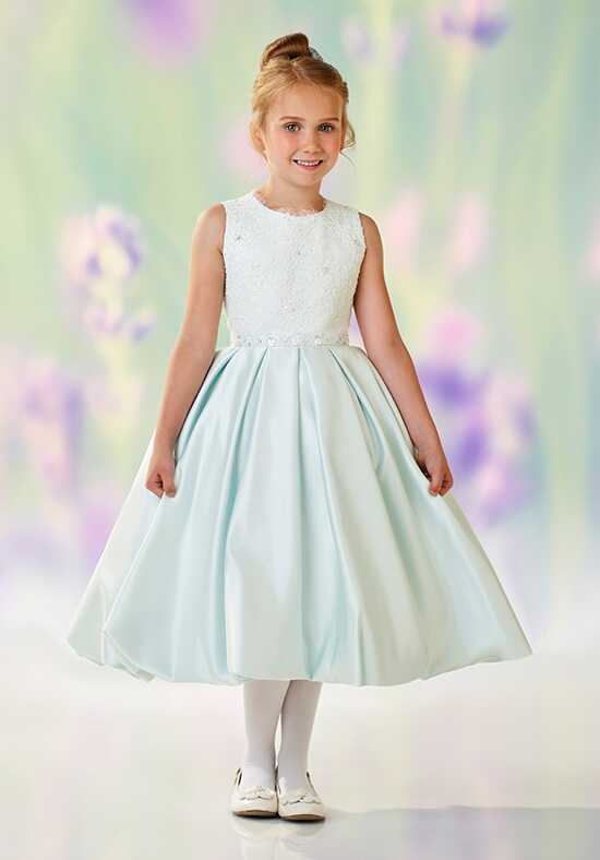 Joan Calabrese by Mon Cheri 118324 Blue Flower Girl Dress
