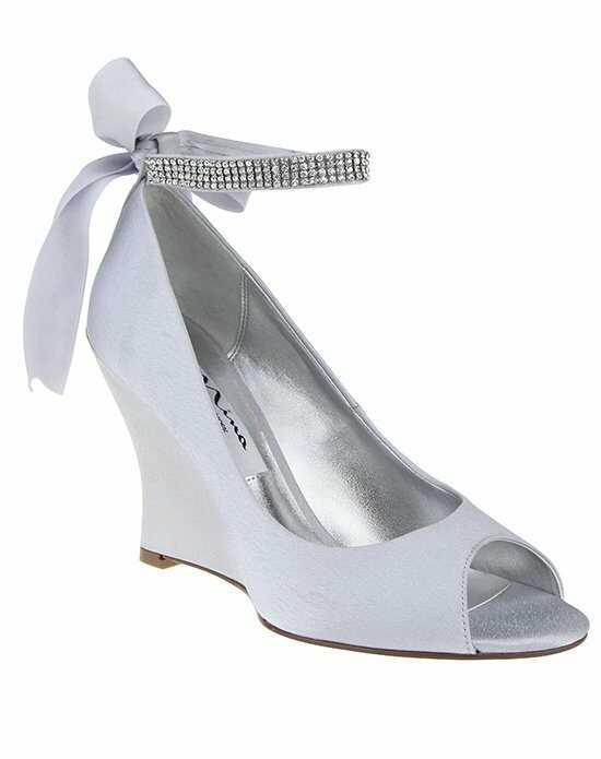 Nina Bridal Wedding Accessories EMMA_SILVER Silver Shoe