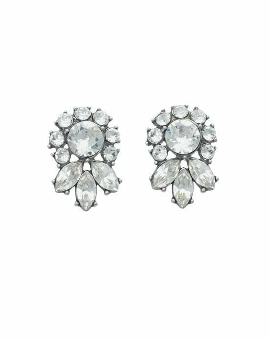 Thomas Laine Ben-Amun Glamour Crystal Stud Earrings Wedding Earring photo