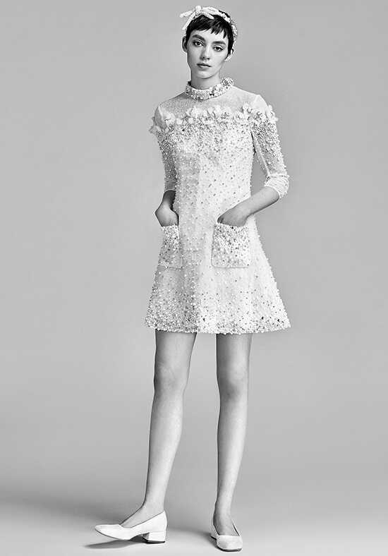 Viktor&Rolf Mariage Bejeweled Sparkle Mini A-Line Wedding Dress