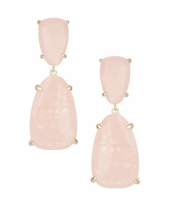 Kendra Scott Katie Statement Earrings in Rose Quartz Wedding Earring photo