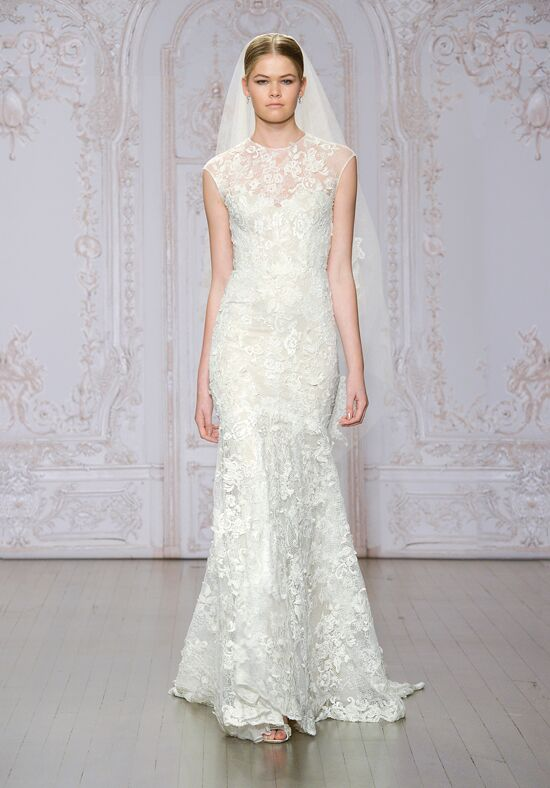 Monique Lhuillier Stella Sheath Wedding Dress