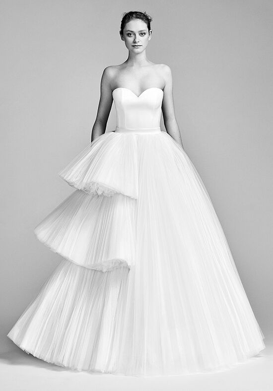 Viktor&Rolf Mariage Asymmetric Tiered Tulle Gown Ball Gown Wedding Dress