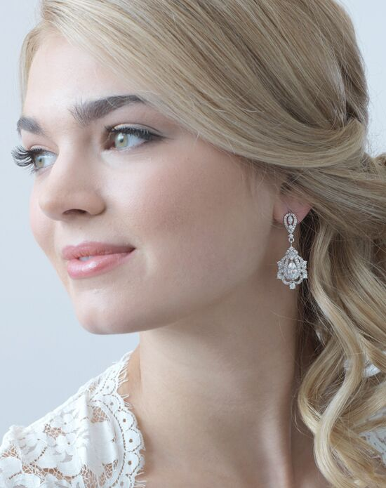 USABride Regal CZ Earrings (JE-4045) Wedding Earring photo