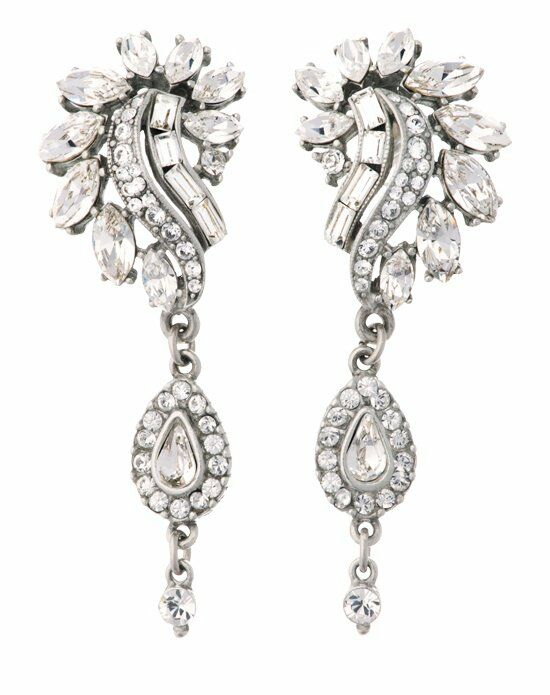 Thomas Laine Ben-Amun Bridal Crystal Garland Drop Earring Wedding Earring photo