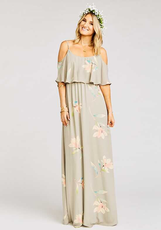 Show Me Your Mumu Caitlin Ruffle Maxi Dress - Lily Showers Scoop Bridesmaid Dress